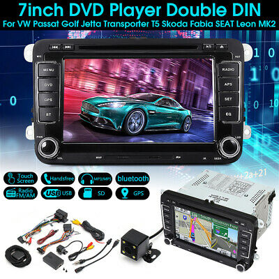 7'' TouchScreen DVD Player Radio GPS Sat Stereo Camera For VW Passat Golf Jetta