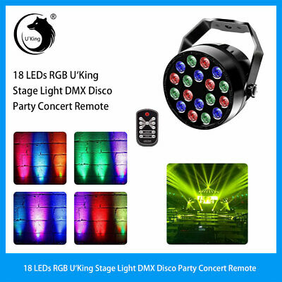 U`king 36W RGB 18LED Par Stage Lighting DMX Bar Disco DJ Party Club Lights
