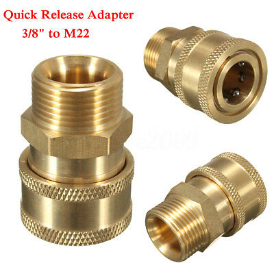"3/8"" Quick Release Adapter Connect to M22 Metric For Pressure Washer Gun Hose"