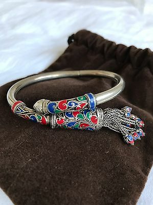 Women Silver Bangle With Tussle