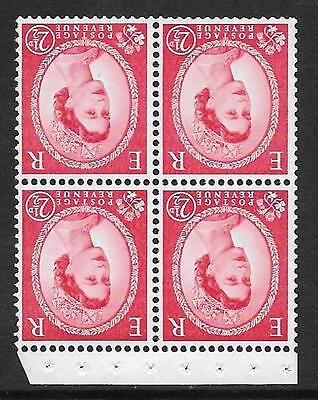 SB84a Wilding booklet pane Crowns chalky perf type I(½v) UNMOUNTED MNT