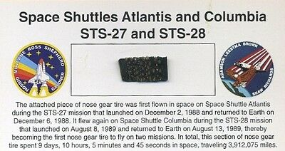 Space Shuttle Nose Gear Tire - Flown on TWO Missions - Atlantis and Columbia!