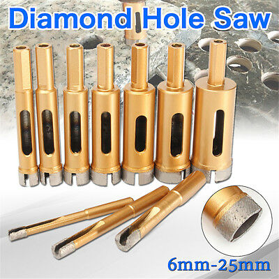 6-60mm Diamond Hole Saw Drill Core Bit Tile Ceramic Porcelain Stone Marble Glass