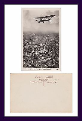 Imperial Airways Handley Page H.p.42 Over London Real Photo Postcard Circa 1931