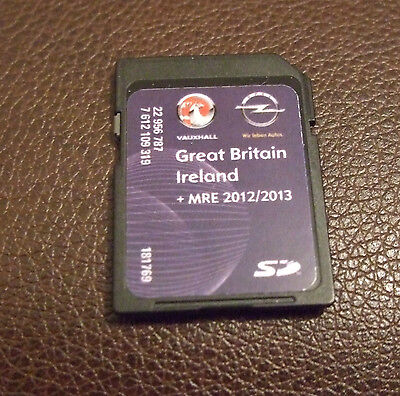 Vauxhall  Opel Sat Nav Sd Card Navi 600 Uk Ireland 2012 / 2013