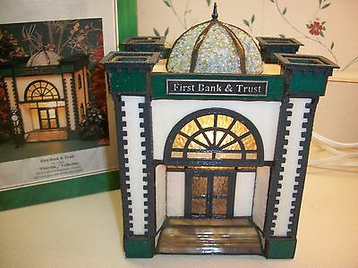 "Forma Vitrum ""First Bank and Trust""  Lt. Ed. with Street Clock and Box"
