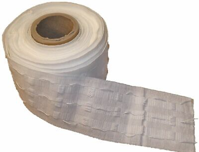 3 inch / 75mm - CURTAIN HEADING HEADER TAPE - PENCIL PLEAT - WHITE