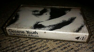 CICCONE YOUTH (Sonic Youth) THE WHITEY ALBUM Cassette RARE alternative tape