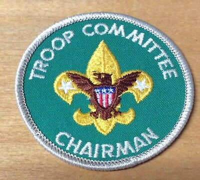 Boy Scout Troop Committee Chairman Patch  Never Used