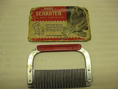 Vintage Huot Serrater and Meat Tenderizer In Original Package Red Handle Fries