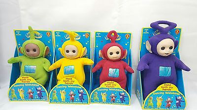 Teletubbies Full Set Of Four Original Soft Toys Boxed Golden Bear 1996 Rare New