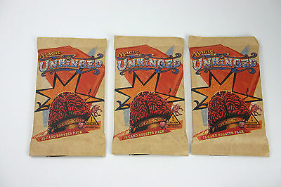 Magic the Gathering - 3 Unhinged Booster (Neu, OVP, englisch)
