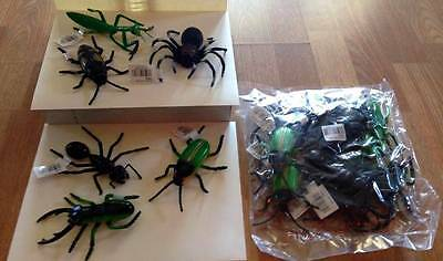 BAG of BUGS/INSECTS/SPIDER PVC NWT SCHOOL SCIENCE PARTY 12PC 6 VARIETY BIG + 5""