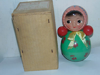 Red China  BIG ROLY POLY Doll BIG VERSION   Tin Toy RARE