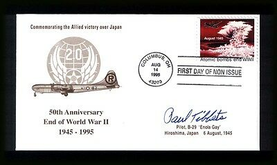 UNITED STATES 1995 - Atomic Bombs end WWII - Signed Paul Tibbets pilot Enola Gay