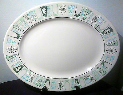 Taylor Smith & Taylor Cathay Pattern Oval Platter Atomic Retro Dinnerware