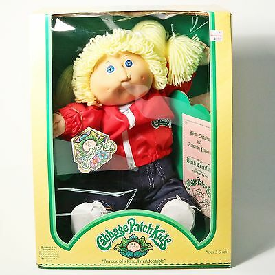 Vtg 1983 Coleco Cabbage Patch Kid Doll 3900 Maddie Tess w/ Birth Certificate