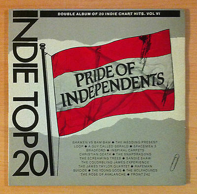 Indie Top 20  Vol VI -  Pride Of Independents - Various ‎–  Vinyl 2Lp - 1989 Uk