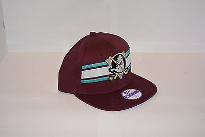 Casquette New Era Youth Snapback NHL team strip Anamig purple