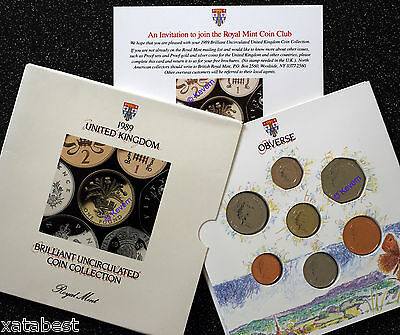 UNOPENED 1989 UK Brilliant Uncirculated Coin Collection Set - Royal Mint Sealed