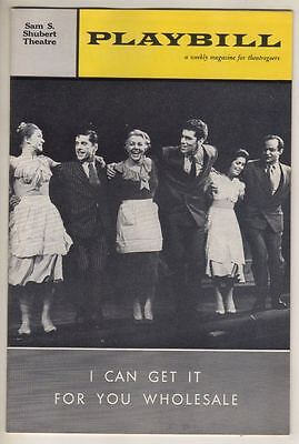 """Barbra Streisand DEBUT Playbill """"I Can Get It For You Wholesale""""  1962  TICKET"""