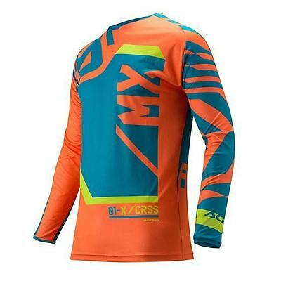 "Maglia cross | enduro ACERBIS ""MX FITCROSS"" arancio / blue ""M"""