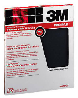 3M COMPANY Trim-M-Ite 9 x 11-Inch 220-Grit Silicon Carbide Wet/Dry Sandpaper