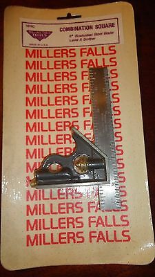 """Millers Falls 6"""" Combination Square No.1276C - Nos !"""