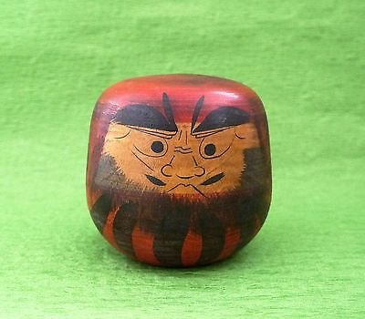 ONE OF A KIND!! Japanese Antique Wooden Yuda Kokeshi Doll RATTLE DARUMA Toy #103
