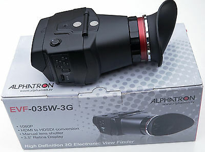 Alphatron Broadcast EVF-035W-3G Electronic Viewfinder + Battery