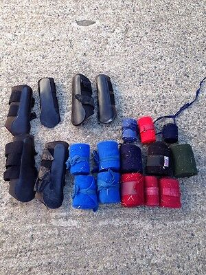 Cob/Full Brushing Boots And Tail And Leg Bandages Joblot