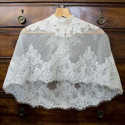 New: Sottero & Midgley  Ivory Lace Bridal Cape.  Vintage Wedding. Stunning