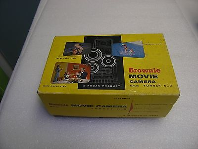 Vintage Brownie 8mm TURRET f=1.9 CAMERA with Box & Instructions