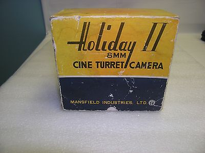 Vintage Holiday II 8mm CINE TURRET CAMERA with Box