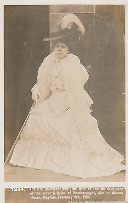 Vintage Postcard - Late Countess Of Howe  - Daughter Of Duke Of Marlborough