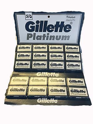 50 Pcs Gillette Platinum Double Edge Razor Blades FREE SHIPPING!