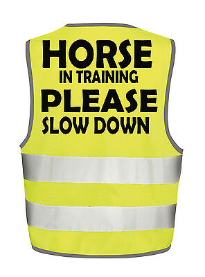 Horse In Training Hi Viz Vest Equestrian Safety Tabbard Waistcoat Visability