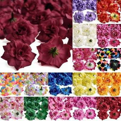 50pcs Artificial Silk Rose Flower Heads Bridal Wedding Favor DIY 5x3cm IFHS1