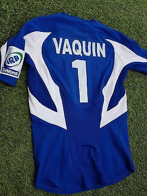 maillot rugby porté Rémy VAQUIN FRANCE FFR  WORLD CUP SERIES 2006 IRB SEVEN
