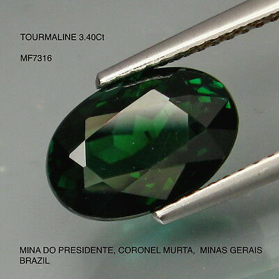 TOURMALINE INDICOLITE-VERDILITE 3.40Ct  NATURAL MINED UNTREATED 3.40Ct