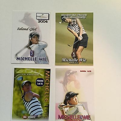 Michelle Wie Golf LPGA star rare limited issued card set
