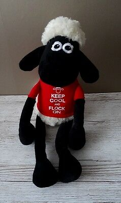 """Shaun The Sheep - Soft Toy - 17"""" - Excellent Condition - Keep Cool And Flock On"""