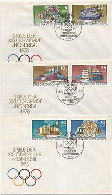 """2126/31 """"Olympiade Montreal 1976"""" FDC"""