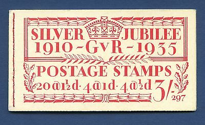 PART COMPLETE BB28 KGV 3/-Silver Jubilee Booklet. Edition 297