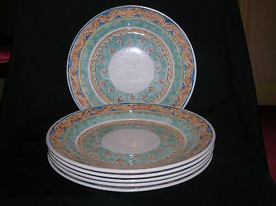 """Churchill Kabul 6 x Dinner Plates 10 and 3/8"""" Ports of Call"""