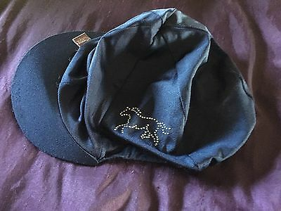 Blue Silk Childs hat cover