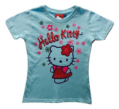 Girls T Shirt Top Kids Childrens Summer Outfits Tops NEW Hello Kitty Age 5-6 Y