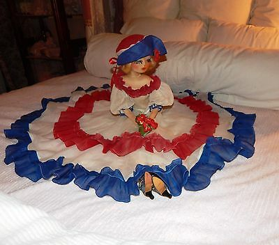 Beautiful Vintage 1920's Blossom Boudoir Bed Doll Cloth Doll