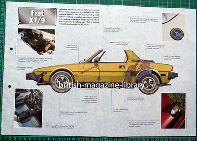 Fiat X1/9 - Technical Cutaway Drawing