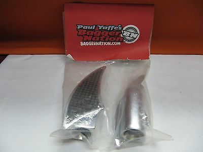 Paul Yaffe's Baggernation 1620-1169 Chrome Wedgy Passenger Pegs (Qty 1 Pair) Nos